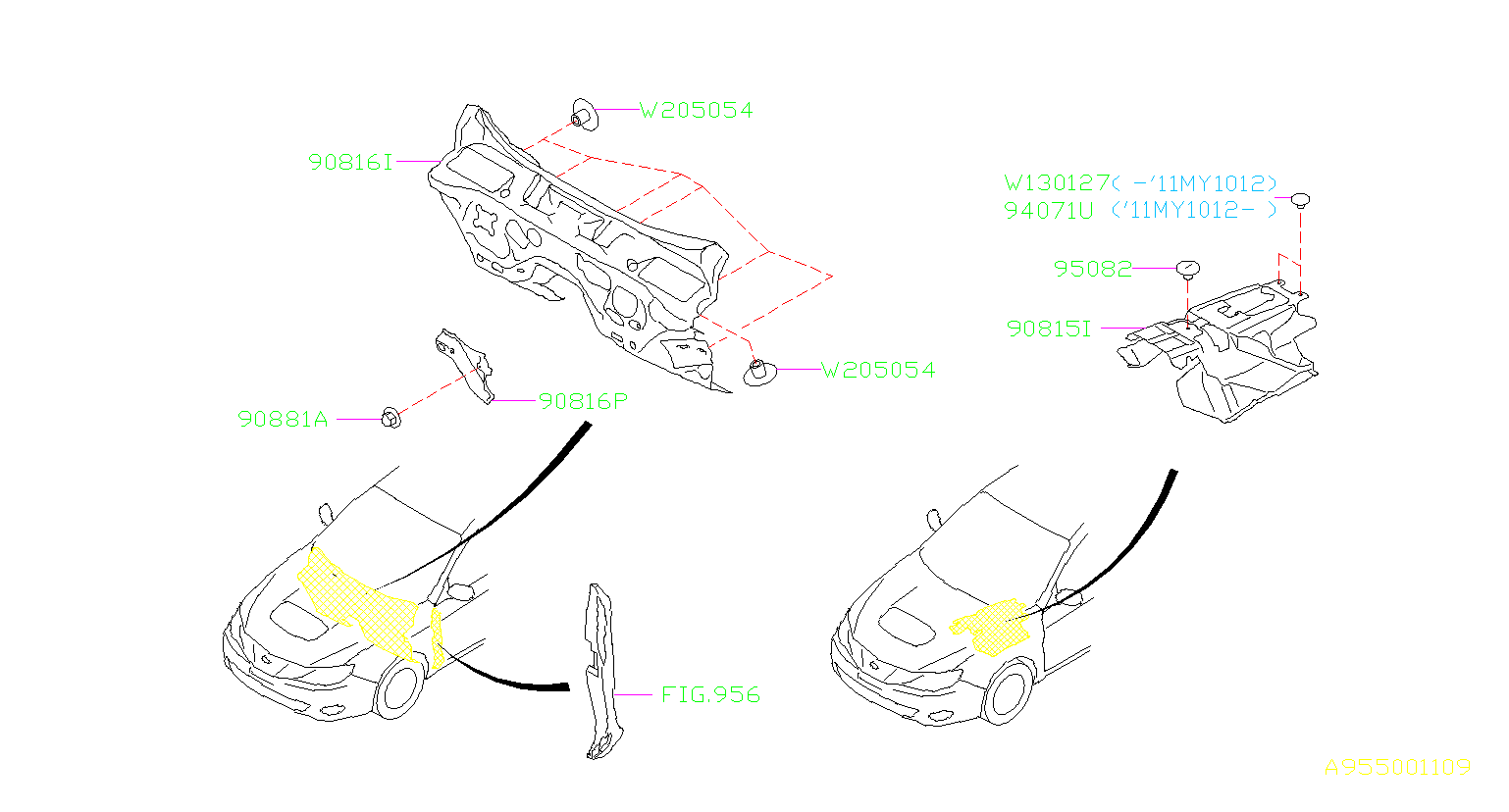 2014 subaru clip-cover side sill  wiring  main  rear